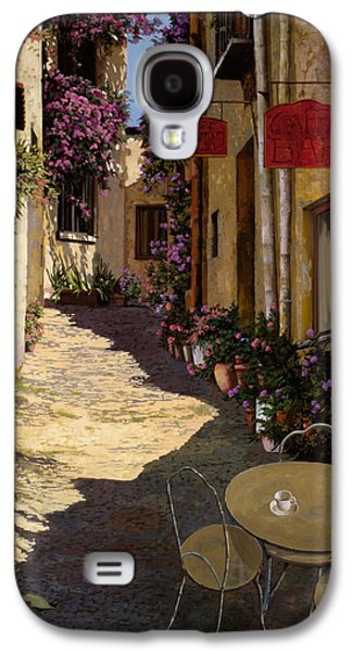 Street Paintings Galaxy S4 Cases - Cafe Piccolo Galaxy S4 Case by Guido Borelli
