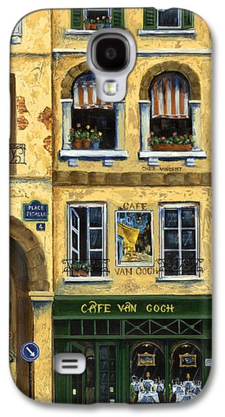Signed Paintings Galaxy S4 Cases - Cafe Van Gogh Paris Galaxy S4 Case by Marilyn Dunlap