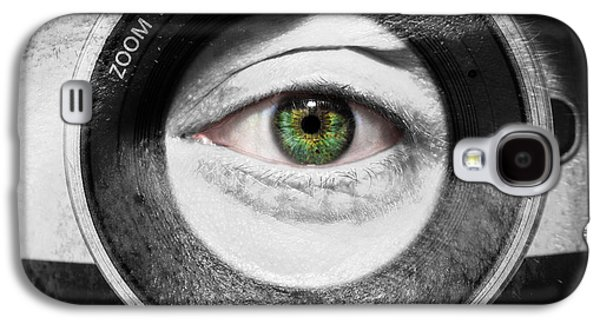 Aperture Galaxy S4 Cases - Camera Face Galaxy S4 Case by Semmick Photo