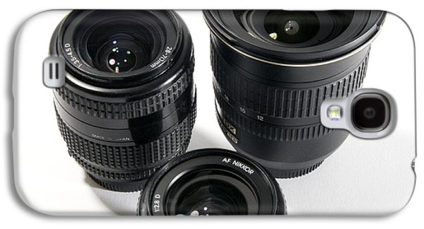 Component Photographs Galaxy S4 Cases - Camera Lenses Galaxy S4 Case by Johnny Greig