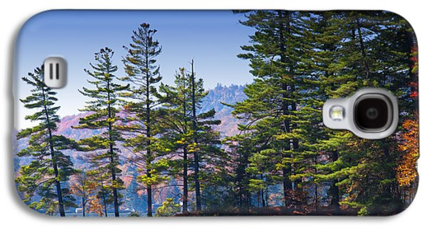 Autumn Leaf On Water Galaxy S4 Cases - Canoeing in the Fall Galaxy S4 Case by David Patterson