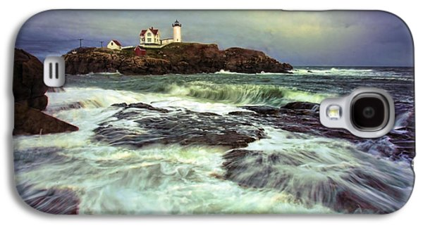 Cape Neddick Lighthouse Galaxy S4 Cases - Cape Neddick Storm Galaxy S4 Case by Rick Berk