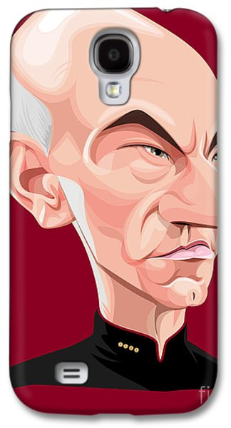 Enterprise Galaxy S4 Cases - Captain Jean Luc Picard Galaxy S4 Case by Kevin Greene