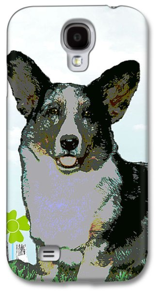 Puppy Digital Art Galaxy S4 Cases - Cardigan Welsh Corgi Galaxy S4 Case by One Rude Dawg Orcutt