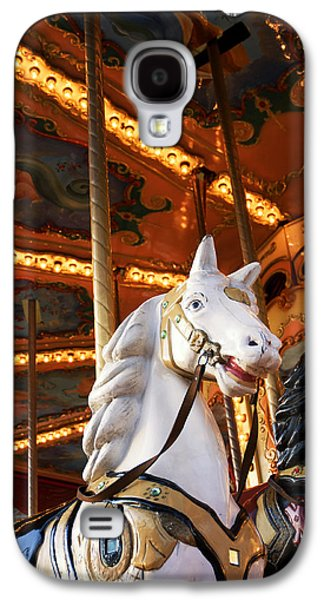Painted Details Galaxy S4 Cases - Carousel horse Galaxy S4 Case by Fabrizio Troiani