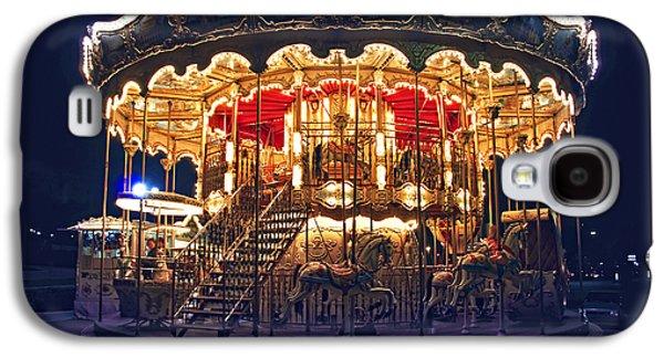 Brightly Galaxy S4 Cases - Carousel in Paris Galaxy S4 Case by Elena Elisseeva