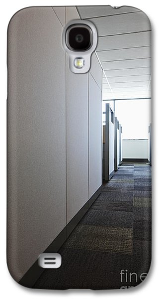 Florescent Lighting Galaxy S4 Cases - Carpeted Hall with Office Cubicles Galaxy S4 Case by Jetta Productions, Inc