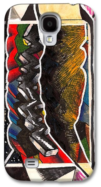 Behind The Scenes Drawings Galaxy S4 Cases - Torn Plastic Picture Plane Galaxy S4 Case by Al Goldfarb