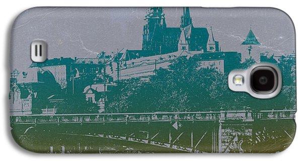 European City Digital Art Galaxy S4 Cases - Castillo De Praga Galaxy S4 Case by Naxart Studio