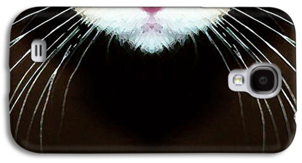 Pet Digital Art Galaxy S4 Cases - Cat Art - Super Whiskers Galaxy S4 Case by Sharon Cummings