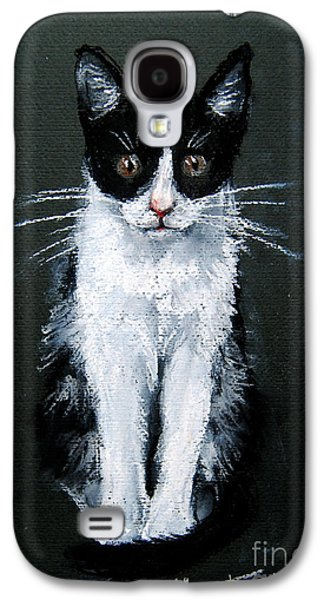 White Pastels Galaxy S4 Cases - Cat I Galaxy S4 Case by Mona Edulesco