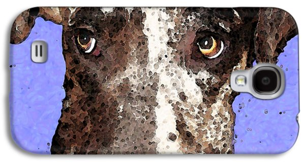 Dog Pop Art Galaxy S4 Cases - Catahoula Leopard Dog - Soulful Eyes Galaxy S4 Case by Sharon Cummings