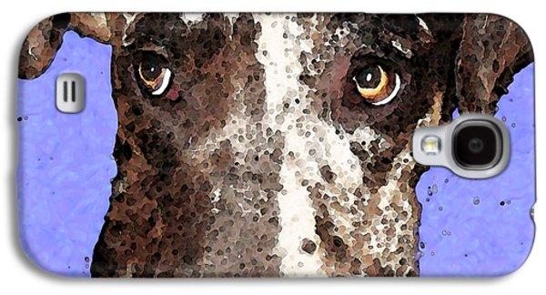 Animal Lover Digital Art Galaxy S4 Cases - Catahoula Leopard Dog - Soulful Eyes Galaxy S4 Case by Sharon Cummings