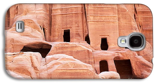 Civilization Galaxy S4 Cases - Cave dwellings Petra. Galaxy S4 Case by Jane Rix