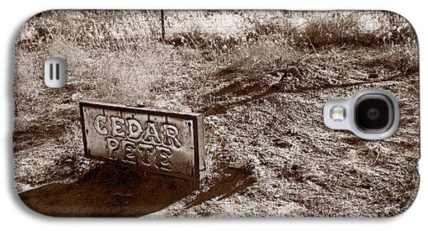 Cemetary Galaxy S4 Cases - Cedar Pete Gravesite In Grafton Utah Galaxy S4 Case by Steve Gadomski