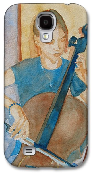 Girl Galaxy S4 Cases - Cello Practice IV Galaxy S4 Case by Jenny Armitage