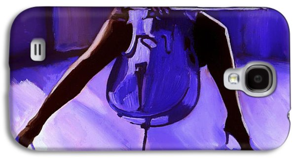 Mood Paintings Galaxy S4 Cases - Cello Galaxy S4 Case by Vel Verrept