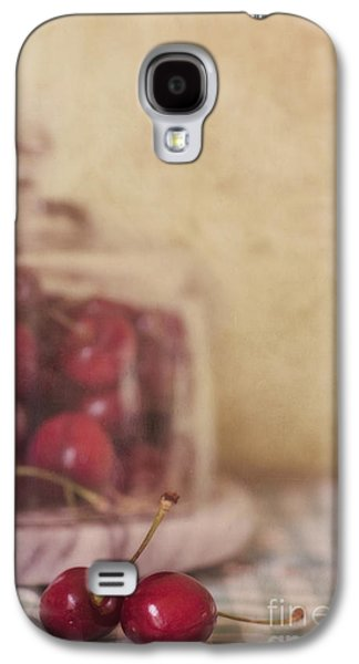 Red Photographs Galaxy S4 Cases - Cerise Galaxy S4 Case by Priska Wettstein