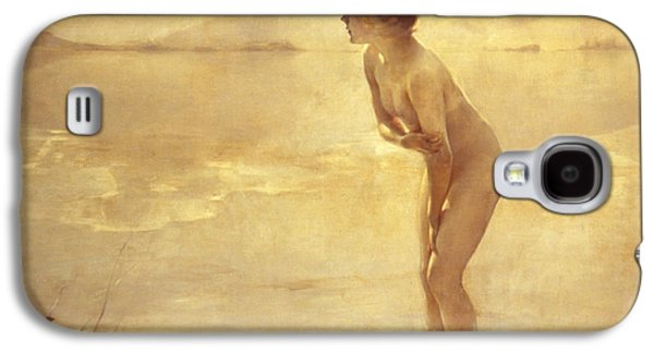 Nudes Paintings Galaxy S4 Cases - Chabas: September Morn Galaxy S4 Case by Granger