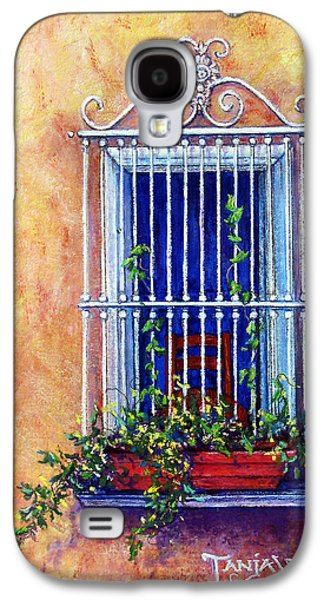 Window Pastels Galaxy S4 Cases - Chair in the Window Galaxy S4 Case by Tanja Ware