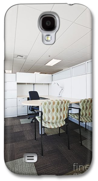 Not In Use Galaxy S4 Cases - Chairs and Desk in Office Cubicle Galaxy S4 Case by Jetta Productions, Inc