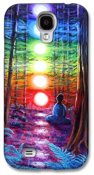 Pride Galaxy S4 Cases - Chakra Meditation in the Redwoods Galaxy S4 Case by Laura Iverson