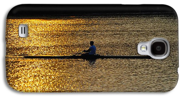 Rowboat Digital Art Galaxy S4 Cases - Challenge Yourself Galaxy S4 Case by Bill Cannon