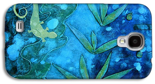 Nature Abstracts Mixed Media Galaxy S4 Cases - Chameleon  Galaxy S4 Case by Ann Powell