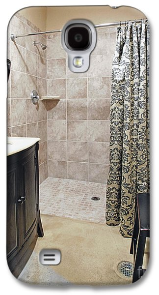 Shower Curtain Galaxy S4 Cases - Changing Room and Shower Galaxy S4 Case by Skip Nall