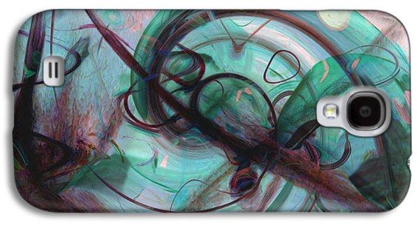 Abstract Digital Galaxy S4 Cases - Chaos Galaxy S4 Case by Linda Sannuti