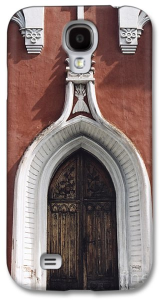 Symetry Galaxy S4 Cases - Chapel Entrance In White And Brick Red Galaxy S4 Case by Agnieszka Kubica