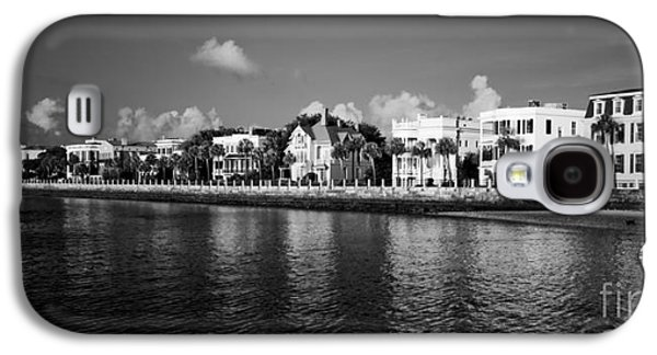 Rows Galaxy S4 Cases - Charleston Battery Row Black And White Galaxy S4 Case by Dustin K Ryan