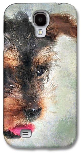 Puppy Digital Art Galaxy S4 Cases - Charming Galaxy S4 Case by Betty LaRue