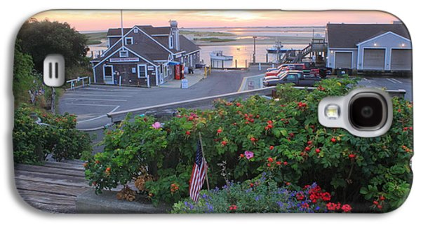 Chatham Galaxy S4 Cases - Chatham Fish Pier Summer Flowers Cape Cod Galaxy S4 Case by John Burk