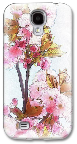 Cherry Blossoms Mixed Media Galaxy S4 Cases - Cherry Blossom Galaxy S4 Case by Heinz G Mielke