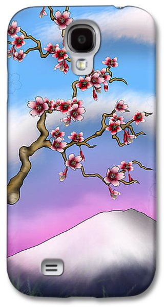 Cherry Blossoms Mixed Media Galaxy S4 Cases - Cherry Blossoms Galaxy S4 Case by Anthony Citro