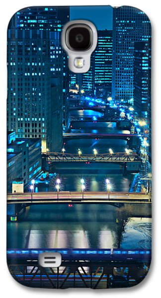 Bridge Galaxy S4 Cases - Chicago Bridges Galaxy S4 Case by Steve Gadomski