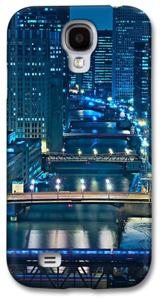 Tourism Galaxy S4 Cases - Chicago Bridges Galaxy S4 Case by Steve Gadomski