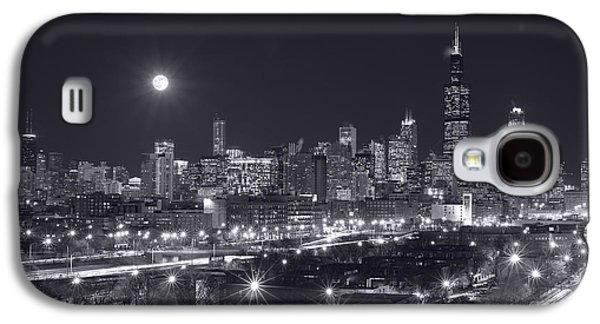 Moon Galaxy S4 Cases - Chicago By Night Galaxy S4 Case by Steve Gadomski