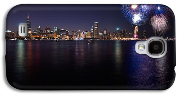 4th July Galaxy S4 Cases - Chicago Lakefront Skyline Poster Galaxy S4 Case by Steve Gadomski
