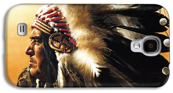 Eagle Paintings Galaxy S4 Cases - Chief Galaxy S4 Case by Greg Olsen