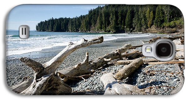 China Driftwood China Beach Juan De Fuca Provincial Park Bc Galaxy S4 Case by Andy Smy