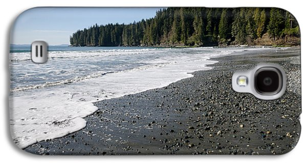 China Wave China Beach Juan De Fuca Provincial Park Vancouver Island Bc Galaxy S4 Case by Andy Smy