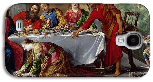 Prostitutes Paintings Galaxy S4 Cases - Christ in the House of Simon the Pharisee Galaxy S4 Case by Claude Vignon