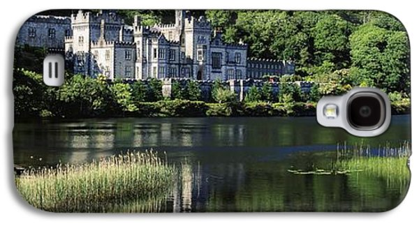 Monasticism Galaxy S4 Cases - Church Near A Lake, Kylemore Abbey Galaxy S4 Case by The Irish Image Collection