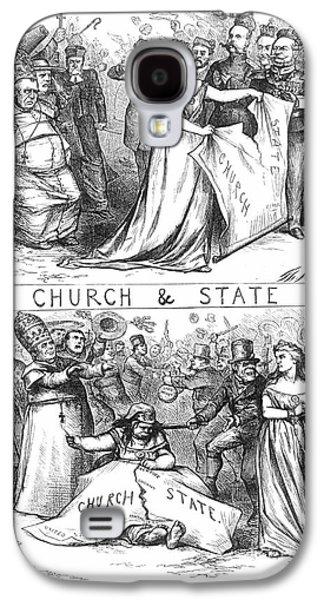 Anti-discrimination Galaxy S4 Cases - Church/state Cartoon, 1870 Galaxy S4 Case by Granger