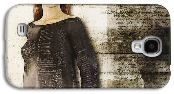 Shirt Digital Art Galaxy S4 Cases - Cindy Galaxy S4 Case by Jutta Maria Pusl
