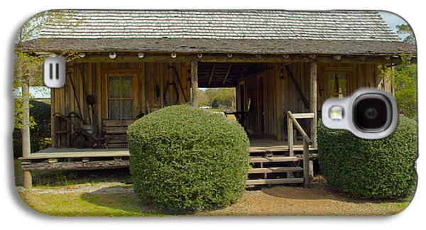 Dog Trots Galaxy S4 Cases - Circa 1900 Dogtrot Cabin Of Ephriam Brown From Lake Mills Florida Galaxy S4 Case by Allan  Hughes