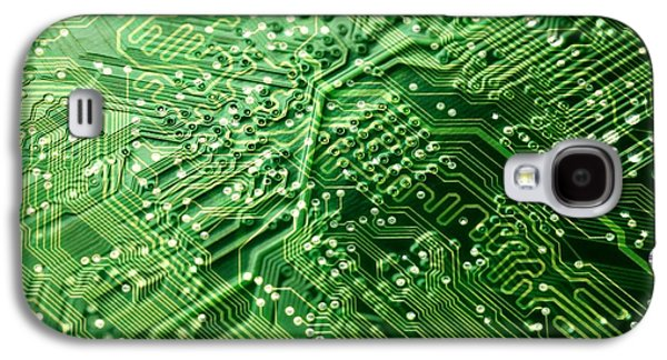 Electrical Component Photographs Galaxy S4 Cases - Circuit Board, Computer Artwork Galaxy S4 Case by Pasieka