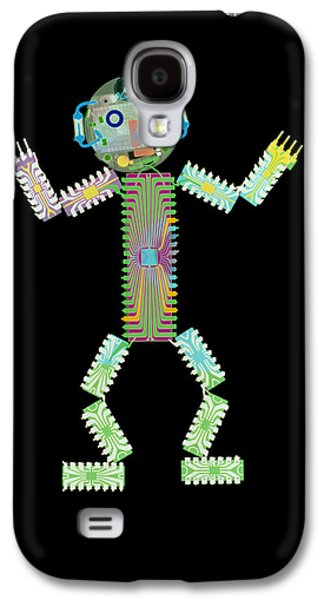 Resistor Photographs Galaxy S4 Cases - Circuit Board Man Galaxy S4 Case by D. Roberts